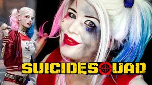 squad harley quinn makeup tutorial by goldiestarling youtube