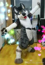 oisk professional fursuit grey dog mascot costumes