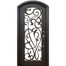 allure iron doors u0026 windows 72 in x 96 in lakeland flat top dark