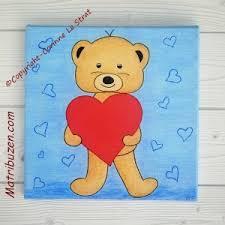 cadre ourson chambre bébé tableau enfant bébé nounours ourson coeur déco murale chambre d enfant