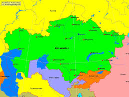 China Political Map by Kazakhstan Political Map A Learning Family