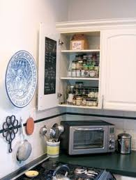 Painting Inside Kitchen Cabinets by Spice Cabinet Calkboard Paint Inside Cupboard Door Or On Spice