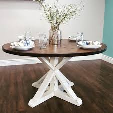 round farmhouse kitchen table stunning handmade rustic round farmhouse table by modernrefinement