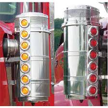 peterbilt air cleaner lights international air cleaner lights big rig chrome shop semi truck