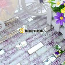 purple kitchen backsplash silver stainless steel metal mixed purple mosaic for