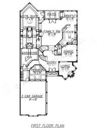 Narrow House Plans Vanallen Narrow House Plans Texas Floor Plans