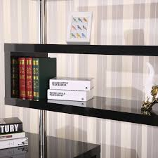 amazon com homcom rotating home office corner desk and shelf