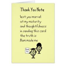 thank you notes with poem gifts on zazzle