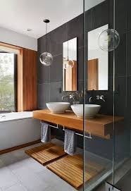 New Bathroom Design Bad Grau Holz Modern Modern Interiors And Townhouse