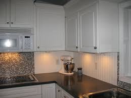 White Beadboard And Tile Backsplash For The Home Pinterest - Bead board backsplash
