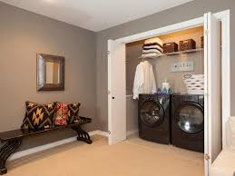 closet laundry room design small laundry space use retractable