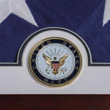 Interment Flag Us Flag Display Case With Navy Medallion American Flag Display Cases