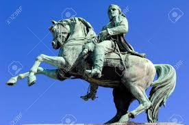 Horse Bridle Decorations France Rouen A Bronze Statue Of Napoleon Riding A Horse Decorate