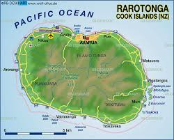 where is cook islands located on the world map map of rarotonga cook islands new zealand map in the atlas of