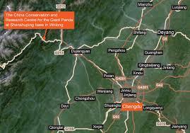 Pandas Map Hk For Wolong Giant Panda Bases