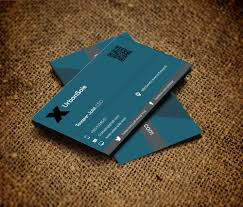 Business Card Design Psd File Free Download Amazing Black Business Cards Design With Blue 3d Effects