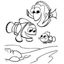 print coloring image drawings finding nemo coloring pages