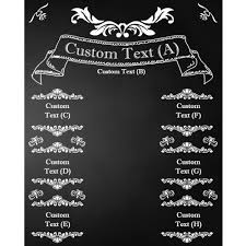 wedding banner chalkboard printed backdrop backdrop express