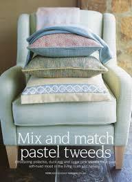editorial room set rebecca de boehmler country homes and interiors magazine pastel tweeds feature styling rebecca de boehmler