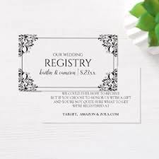 custom wedding registry wedding registry cards nadine black personalize gift idea