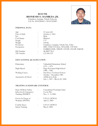 Education Qualification Format In Resume 10 Personal Data In Resume Students Resume