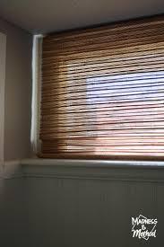 basement bamboo blinds diy hack madness u0026 method
