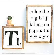 Abc Nursery Decor Alphabet Sign Abc Nursery Decor Wood Letter Sign