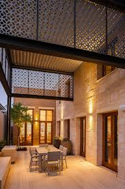 Patio Lighting Perth Perth Perforated Metal Patio Mediterranean With Outdoor Dining