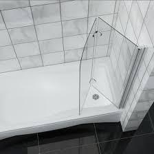 900x1400mm hinge 180 2 fold bath shower screen easy clean glass bath screen