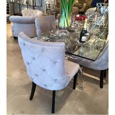 buttoned back velvet dining chairs in grey velvet dining chairs