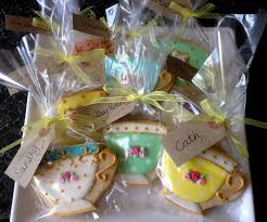 cookie party supplies diy tea party favors tea bag cookies tea and teas