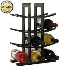 tabletop wine rack bamboo 12 bottle holder wood storage kitchen