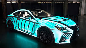 new lexus hoverboard commercial lexus unveils an electro luminescent rc f coupe video
