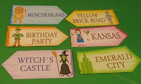 Wizard Of Oz Party Decorations Printable Templates Wizard Of Oz Character Signs Wizard Of Oz
