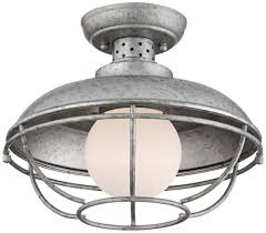 Ceiling Mounted Lights Franklin Park Metal Cage 12