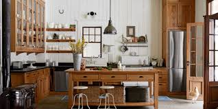 Kitchen Island With Open Shelves Kitchen Country Kitchen Design With Framed Glass Door Wall Pantry
