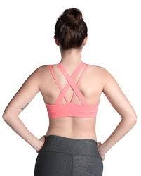 light pink sports bra rise above bra coral pink sports bra yoga pilates light