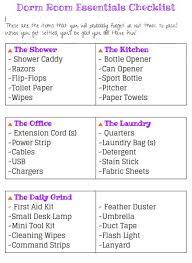 sample dorm room checklist dorm room essentials checklist