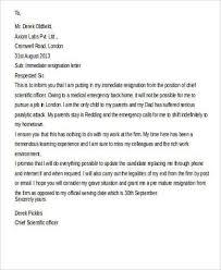 7 resignation notice examples samplesimmediate resignation