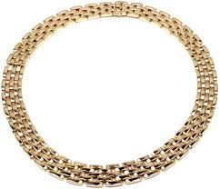cartier yellow gold necklace images Cartier maillon panthere five row yellow gold necklace at 1stdibs jpeg