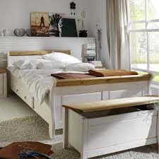 Schlafzimmerm El Ohne Bett Massivholz Bett 100x200 Eva Kiefer Massiv 2 Farbig Weiß Lackiert