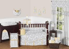 Yellow Crib Bedding Set Yellow And Grey Nursery Bedding White Bed