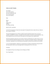 Thank You Letter After Interview Current Employer Follow Up Letter Example
