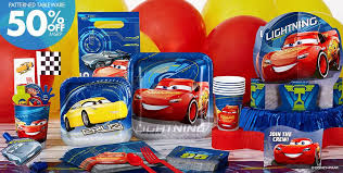 the party supplies disney cars party supplies cars 3 birthday ideas party city