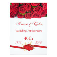 wedding anniversary images 40th wedding anniversary cards greeting photo cards zazzle