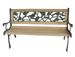 foxhunter 3 seater wooden slat garden bench seat rose style cast