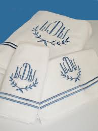 custom embroidered luxury monogrammed bath towels