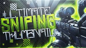 ultimate sniping thumbnail template pack by acezproduction on