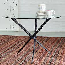 glass and metal dining table diy table base for glass top developerpanda