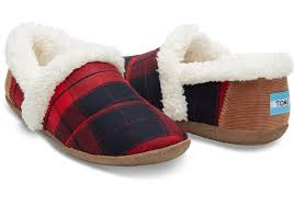 red and black plaid women s house slippers toms 1 2